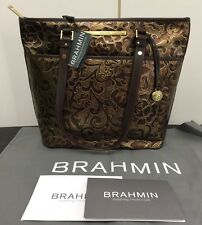 ����New Brahmin Large Bronze Brown Gatsby Asher Genuine Leather Tote Bag NWT����