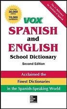 VOX Spanish and English School Dictionary, Paperback, 2nd Edition Vox Dictionar