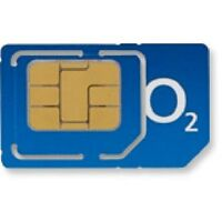 NEW O2 PAY AS YOU GO PAYG 02 MICRO COMBI SIM CARD FOR IPHONE 4, 4s, BLACKBERRY