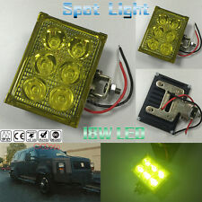 Bright Amber Light 18W 6LED Car Truck 4WD Offroad SUV Driving Fog Work Spot Lamp