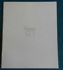 1971 Original Cadillac Sales Brochure Fleetwood Sedan De Ville Calais Coupe