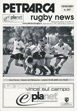 PETRARCA RC, ITALY - Rugby News No 247, 12/5/2001 ITALIAN CLUB MAGAZINE