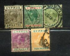 5 Cyprus Old Stamps Lot 2