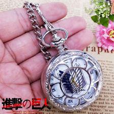 Attack on Titan Shingeki no Kyojin Pocket Watch Costume Necklace Collectible