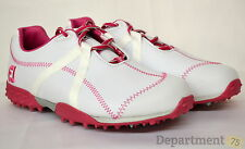 Foot Joy Women's Leather Spikeless Golf Shoes Size 7.5 Medium 95615 Pink/White