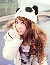 Fashion Cartoon Animal Cute Panda Girls Warm Winter Hat Cap Fluffy Soft Beanie