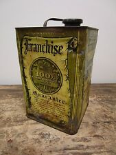 RARE 1933 Vintage FRANCHISE Moto King Two Gallon Motor Oil Can- Oil City, PA