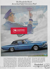 FORD THUNDERBIRD FOR 1966 TOWN LANDAU FORMAL ROOFLINE IN BLUE AIRLINE PILOT AD