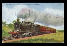 RAILWAY GER Yarmouth Express LNER steam locomotive #1830 early PPC