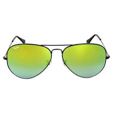 Ray Ban Aviator Green Gradient Mirror Sunglasses RB3025 002/4J 62