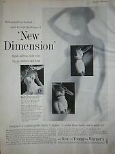 1960 Vintage Warner's New Dimension Womens Girdle Bra Fashion Ad
