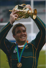 John SMIT Signed Autograph 12x8 Photo AFTAL COA RUGBY South African Captain