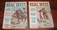 2 REAL WEST MAGAZINE CHARLTON NOVEMBER SEPTEMBER 1965 REMINGTON WYATT EARP