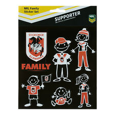 NRL St George Dragons My Footy Family Set of 6 Stickers