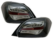 Black Rear Tail Lamps Lights Set For Mitsubishi Mirage Space Star Gen 6th 12-15