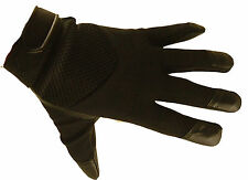 Mens Teenage kids Ladies Leather Mesh Driving Gloves Fitted  STREET GLOVE