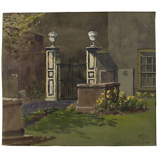 Old Unframed Bristol Watercolour Painting St Johns on the Wall Signed CFW Dening