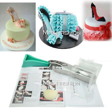 High Heel Shoe Kit Silicone Fondant Mould Wedding Cake Decorating Template Mold