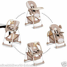 NEW Hauck Sit'n relax  2in1 zoomy baby highchair+bungee in Giraffe (Cream/Beige)
