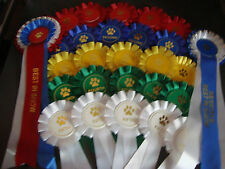 DOG SHOW completo Rosetta Set (10 Set 1st a 5th BIS rbis)
