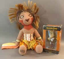 The Lion King Musical large plush Simba and Collectible Scar Mask. Disney