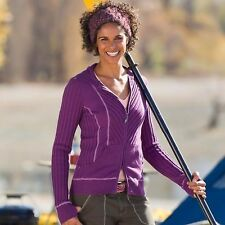 Athleta Organic Cotton Rib Zip Hoodie Raspberry/Sparkling Nightshade XXS Ret.$89