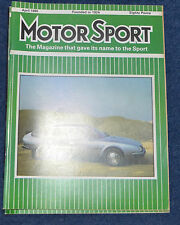 Motor Sport April 1985 Citroen CX 25, Bugatti 38A, Alfetta, Toyota MR2
