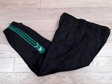 Vtg Adidas 90s 80s Men Track Bottoms Pant Black Green Firebird D7 GB42/44 F186 L