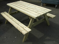 NEW HAND MADE 5FT PRESSURE TREATED PATIO  PUB PICNIC BENCH TABLE SEAT WOODEN