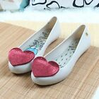 Womens cute heart shape bowknot flat sandals slip ons jelly candy shoes casual d