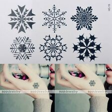 Snowflake Flower Body Art Waterproof Temporary Tattoo Stickers Adornment DIY