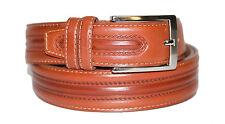 *G02*Muga Leder Gürtel für Bundweite 100 cm Hellbraun/Cognac