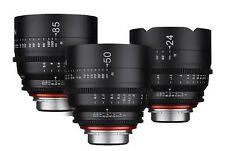 New Rokinon Xeen 24mm T1.5 50mm T1.5 85mm T1.5 Three Lens Set CANON NIKON PL NEX