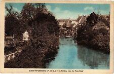 CPA AUXI - LE - CHATEAU .- L'authie vue du pont neuf  (197619)