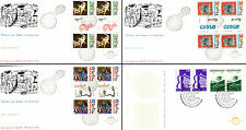 Netherlands Stamps - 4 First Day Covers from 1980s -  Cobra Artists, Erasmus 18