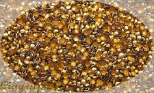 1440 Pcs Iron On Hotfix Sparkling Faceted Rhinestuds Golden Glow SS20 5mm AS5F