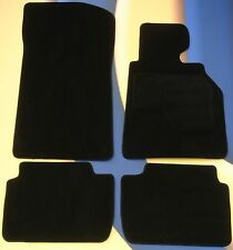 BMW 1 SERIES CABRIO/COUPE E82/E88 08 on TAIL BLACK CAR FLOOR MATS + VELCRO PADS.