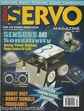Servo robots magazine Sensors and sensitivity Robogames Combat events coverage
