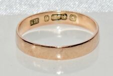 ART Deco 9ct ROSE ORO 3.5mm Fede Nuziale dimensioni dell'anello o-C. 1925