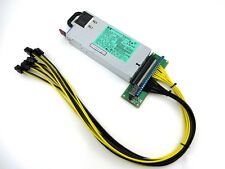 HP 1200W Power Supply PSU + 8 PCI-E 14AWG breakout Kit for Antminer S3, S1, S5