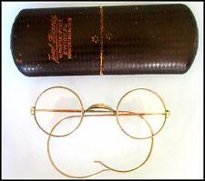 Runde Brille Exzellente Feder Bügel Optiker Nachlass 1920 Oldtimer Fahrer Auto