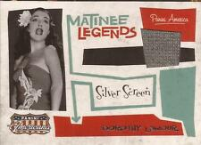 Panini 2011 Americana Material costume Dorothy Lamour Only 99 Made Silver Screen