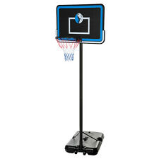 "10FT Adjustable Portable Basketball System 44"" Hoop Backboard Rim System B44"