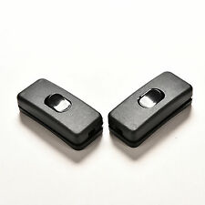 2 pcs AC 250V/125V 2A Black Plastic ON/OFF Button In Line Cord Switches CE10 ST