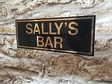 PERSONALISED BAR ANY NAME SIGN BBQ GARDEN PARTY PUB HOME BAR BIRTHDAY GIFT