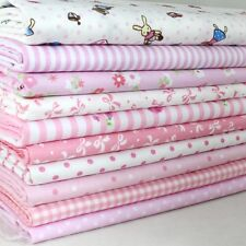 "100% Cotton 10 Assorted Pink Pre Cut Charm 10"" Squares Quilt  Fabric"