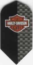 Harley Davidson Slim Black & Carbon Logo Dart Flights: 3 per set