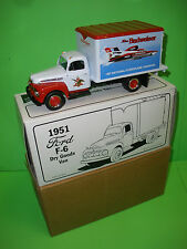 BUDWEISER 1951 FORD F-6 DRY GOODS DELIVERY TRUCK VAN REPLICA HYDROPLANE CHAMPION