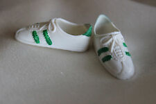 Kenner Dusty Doll Green & White Squishy Tennis Shoes vintage gym shoes
