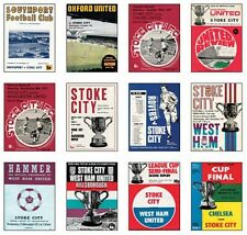 Stoke City 1972 cup programme trading card uncut sheet
